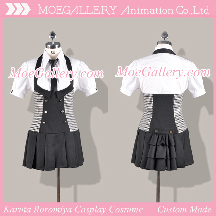 Inu x Boku SS Karuta Roromiya Cosplay Costume Girl Uniform