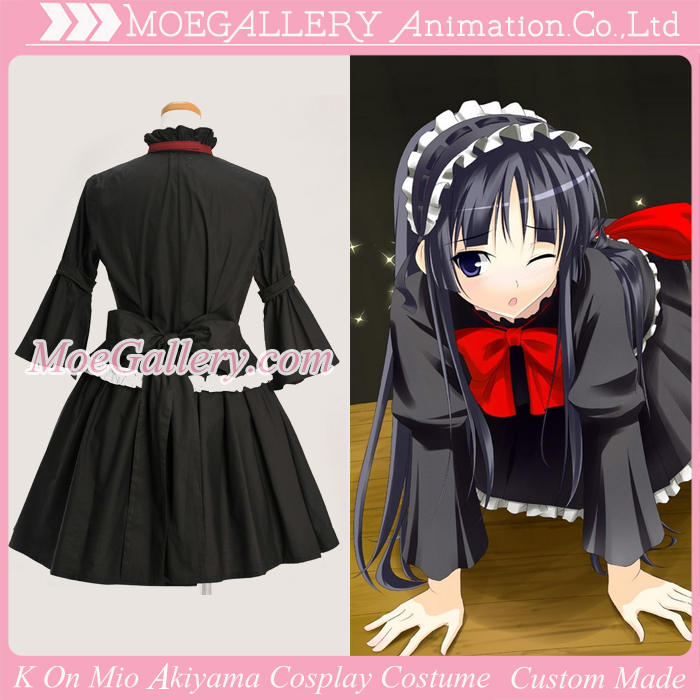 K-On Mio Akiyama Black Cosplay Dress