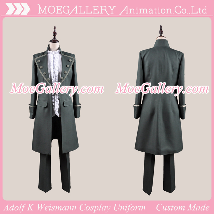 K Project Adolf K Weismann Cosplay Uniform