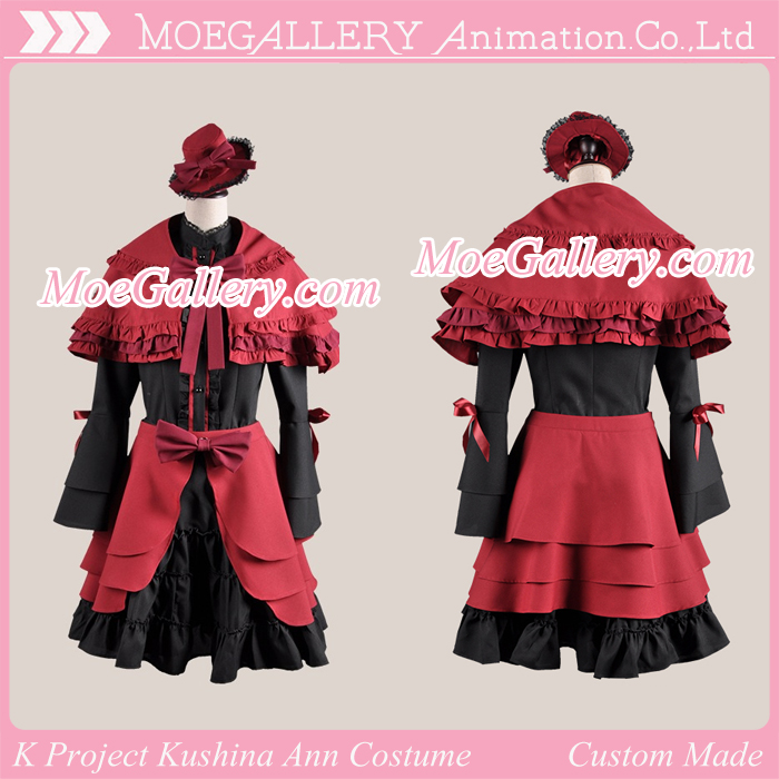 K Project Kushina Ann Cosplay Red Dress