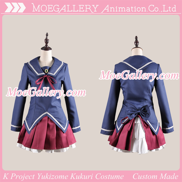 K Project Yukizome Kukuri Costume Ashinaka High School Uniform