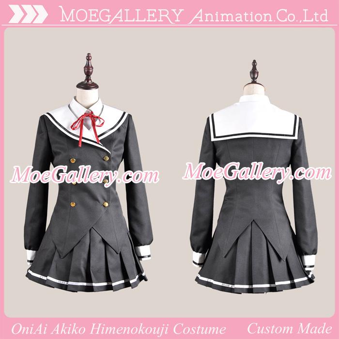 OniAi Akiko Himenokouji School Girls Cosplay Costume