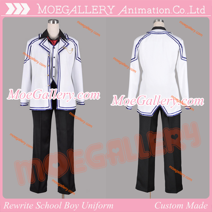 Rewrite Tennouji Kotarou Cosplay Costume School Unifrom