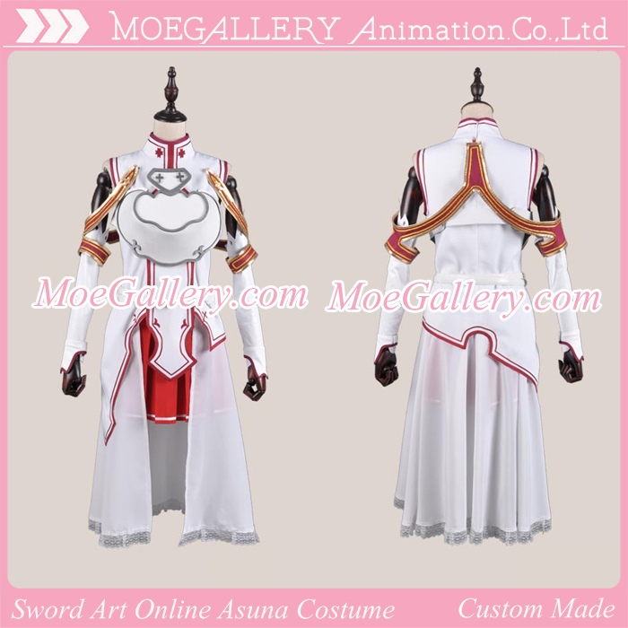 Sword Art Online Asuna Yuki Cosplay Costume