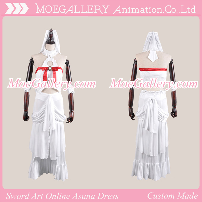 Sword Art Online Asuna Yuki Titania Cosplay Imprisonment Costume