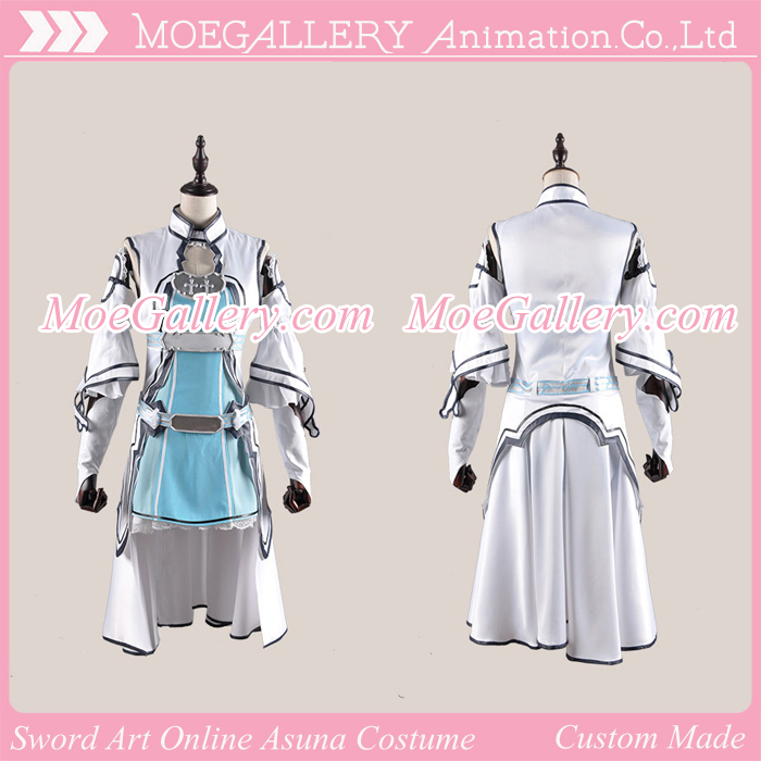 Sword Art Online Asuna Yuki Fairy Dance Cosplay Costume