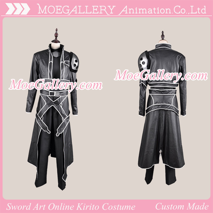 Sword Art Online Kirito ALO Black Cosplay Costume