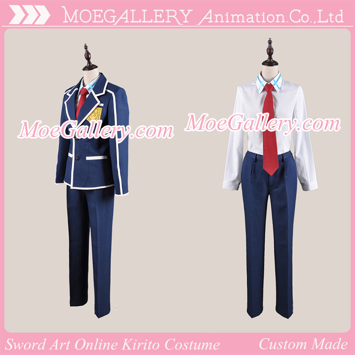 Sword Art Online Kirito Cosplay Uniform