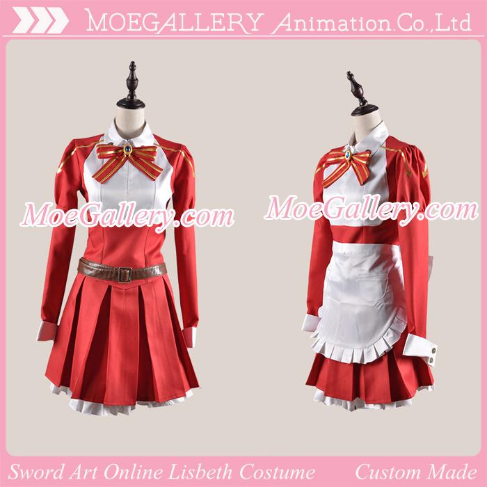 Sword Art Online Lisbeth Red Cosplay Costume