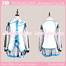 Vocaloid 2 2011 Snow Miku Cosplay Costume