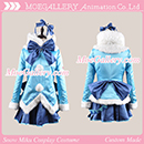 Vocaloid 2 2012 Snow Miku Cosplay Costume