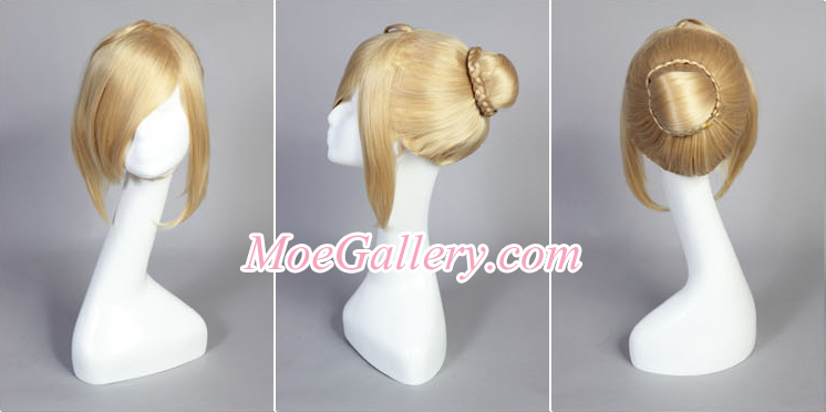 Fate Zero Saber Lily Cosplay Wig 02