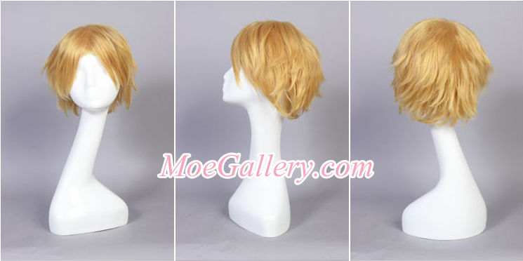 Vocaloid Kagamine Rin Secret Police Cosplay Wig