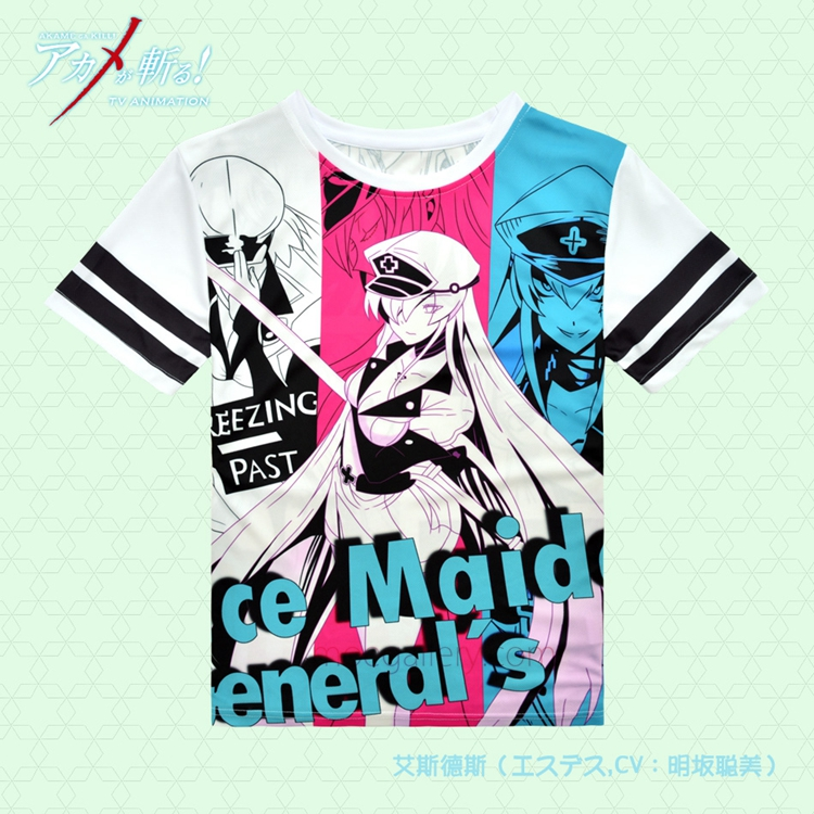 Akame Ga Kill Esdeath Full Print T Shirt