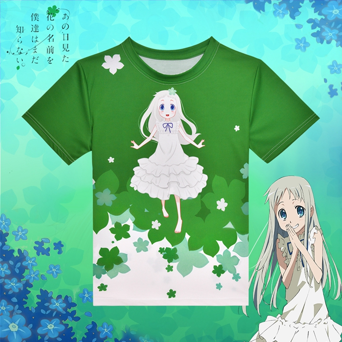 Anohana The Flower We Saw That Day Meiko Honma Anime Full Print T-Shirt