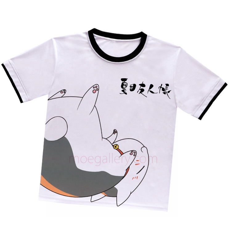 Natsumes Book of Friends Madara Nyanko Sensei White T-Shirt 02