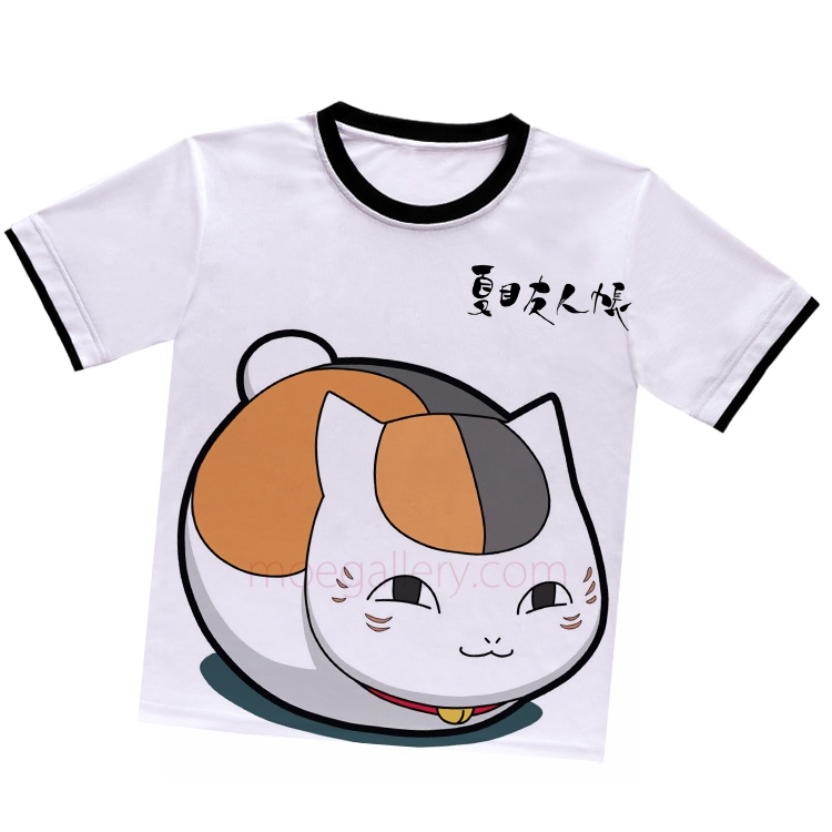 Natsumes Book of Friends Madara Nyanko Sensei White T-Shirt