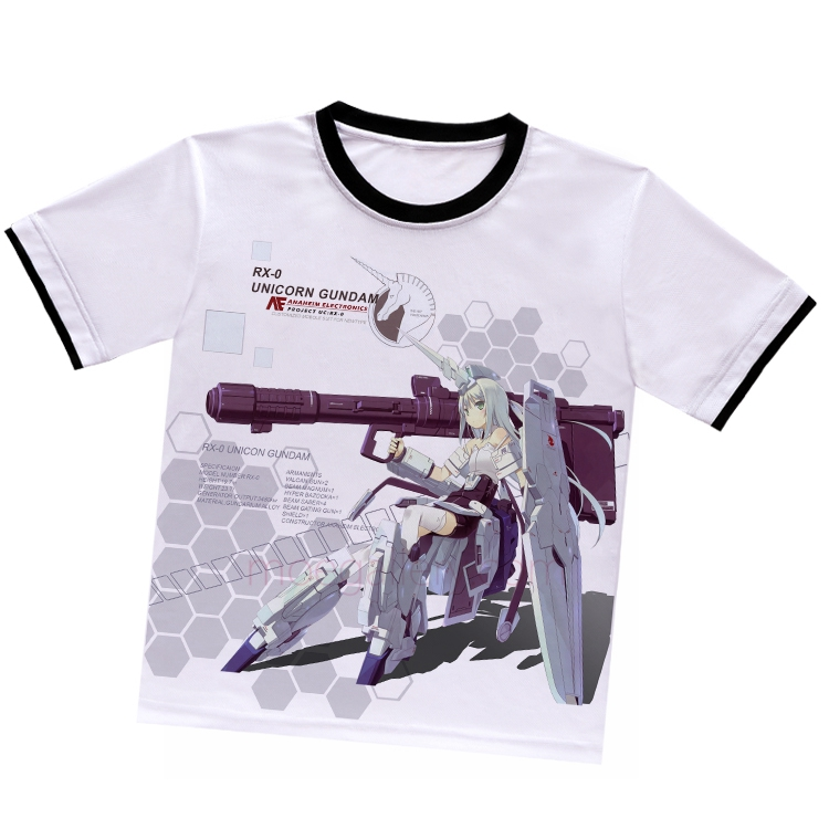 Gundam UC Unicorn White T-Shirt