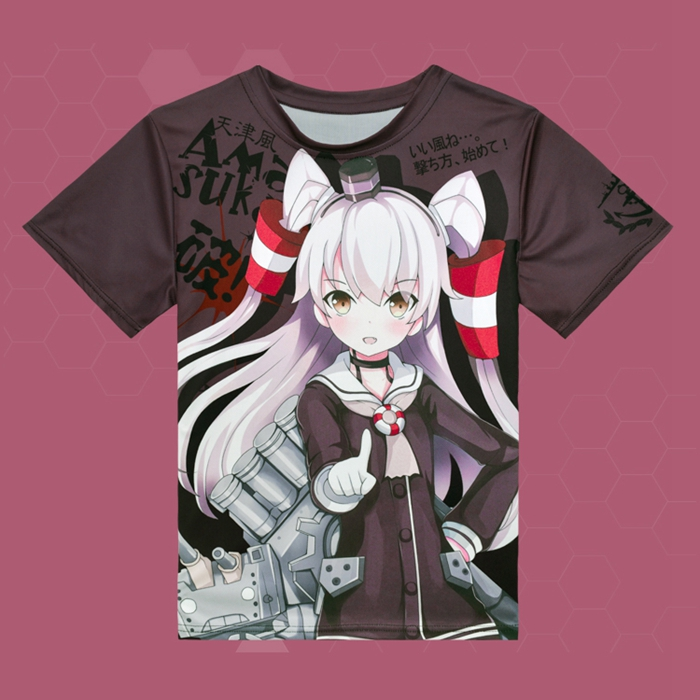 Kantai Collection Amatsukaze Anime Full Print T-Shirt