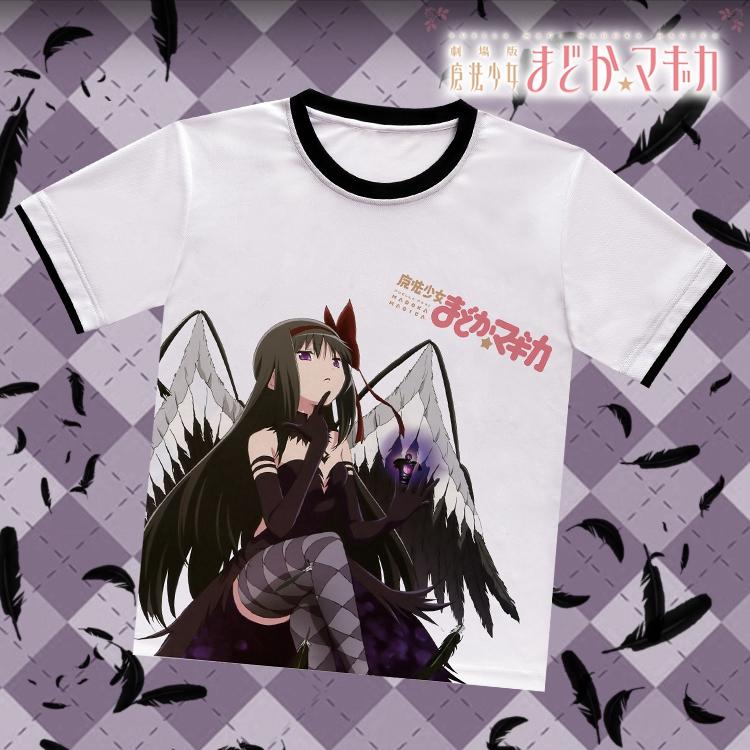 Puella Magi Madoka Magica Homura Akemi White T-Shirt