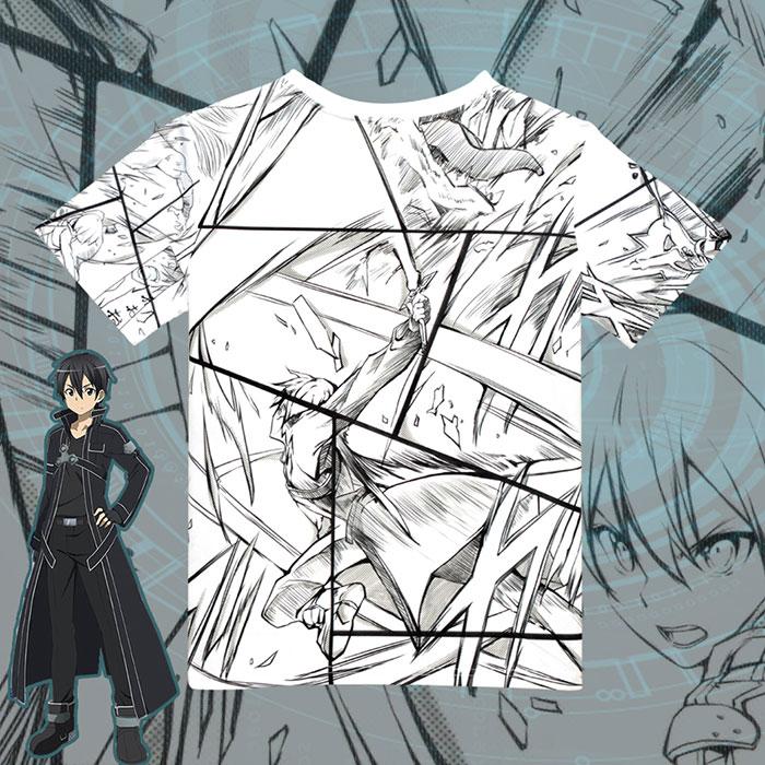 Sword Art Online Kirito Full Print T-Shirt