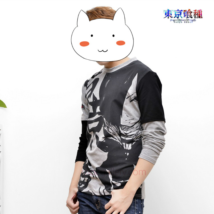 Tokyo Ghoul Toka Kirishima Full Print Pure Cotton Bottoming Shirt