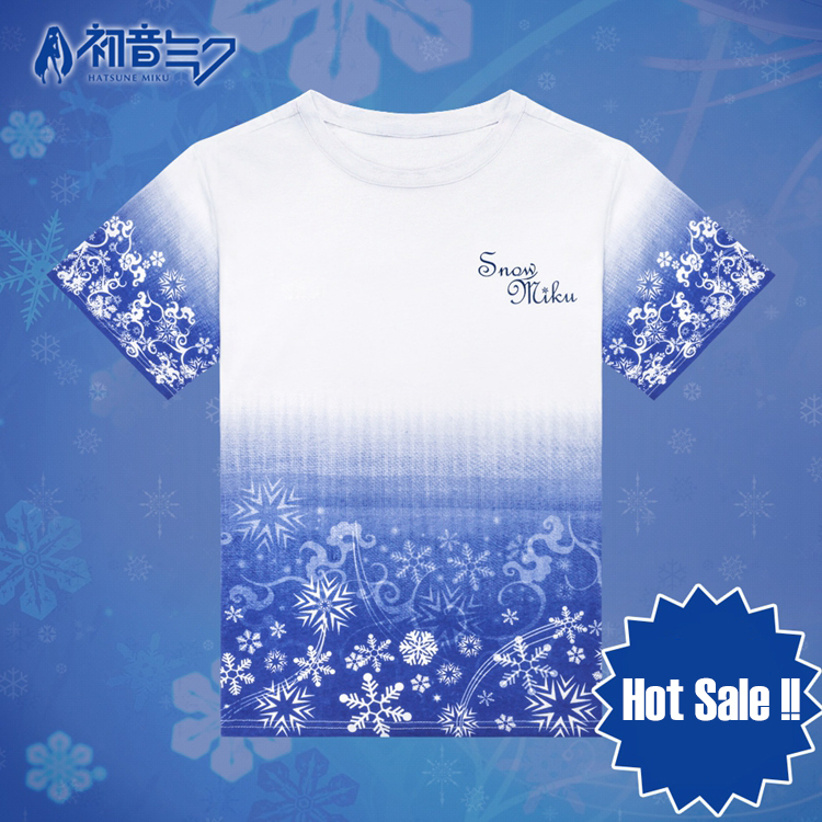Vocaloid Snow Hatsune Miku Anime Full Print T-Shirt