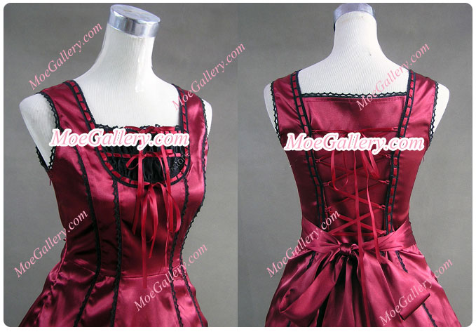 Civil War Gothic Southern Belle Ball Red Gown