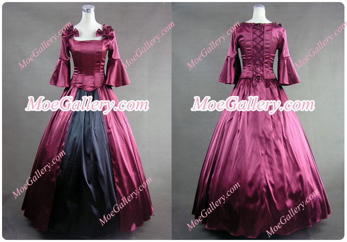 Colonial Lolita Ball Gown Prom Red Wedding Dress