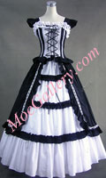 Gothic Lolita Cotton Black Dress Ball Gown