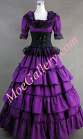 Victorian Gothic Lolita Wedding Purple Dress Ball Gown