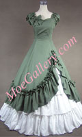 Southern Belle Cotton Evening Gown Green Lolita Dress