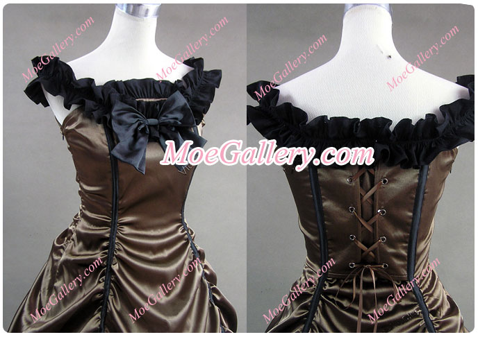 Southern Belle Lolita Ball Gown Chocolate Wedding Dress