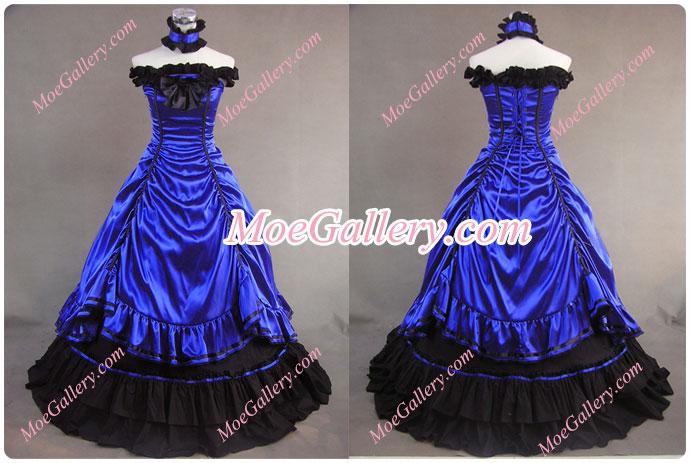 Southern Belle Lolita Ball Gown Wedding Blue Dress