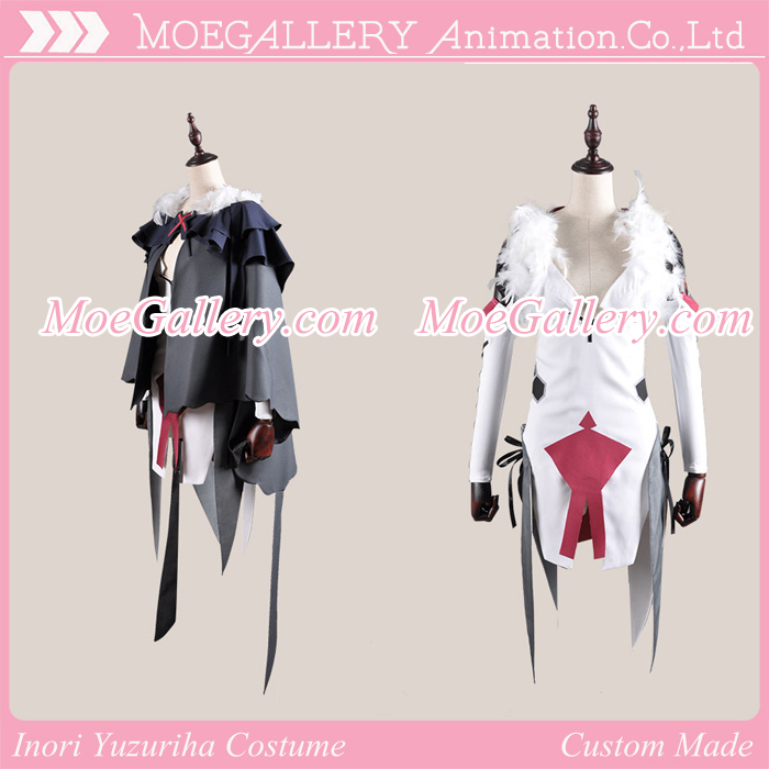 Guilty Crown Inori Yuzuriha Battle Costume With Cape