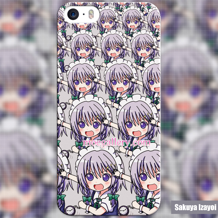 Touhou Project Sakuya Izayoi Anime iphone 5 5s 6 iphone 6 Plus Case