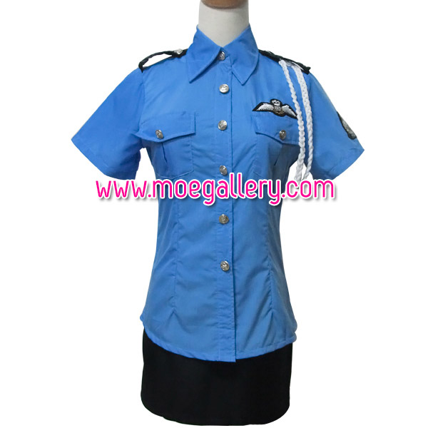 Callous Policewoman Cosplay Costume Suit
