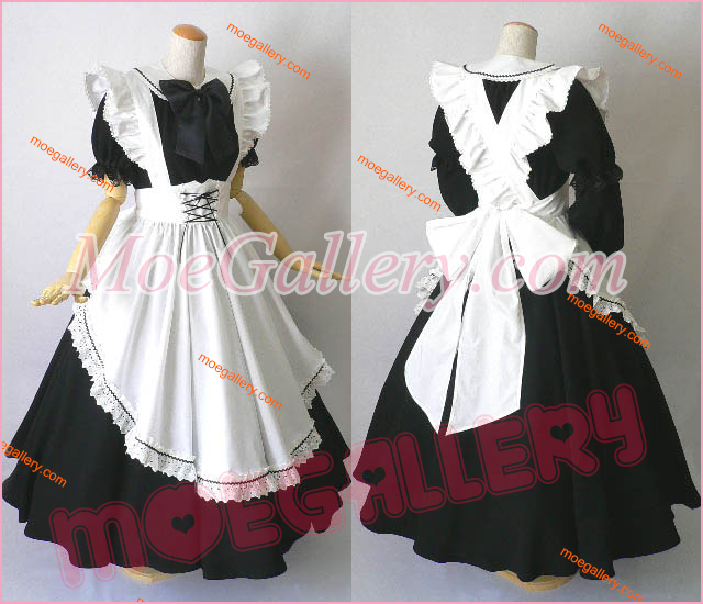 Classical Gothic Maid Cosplay Dress