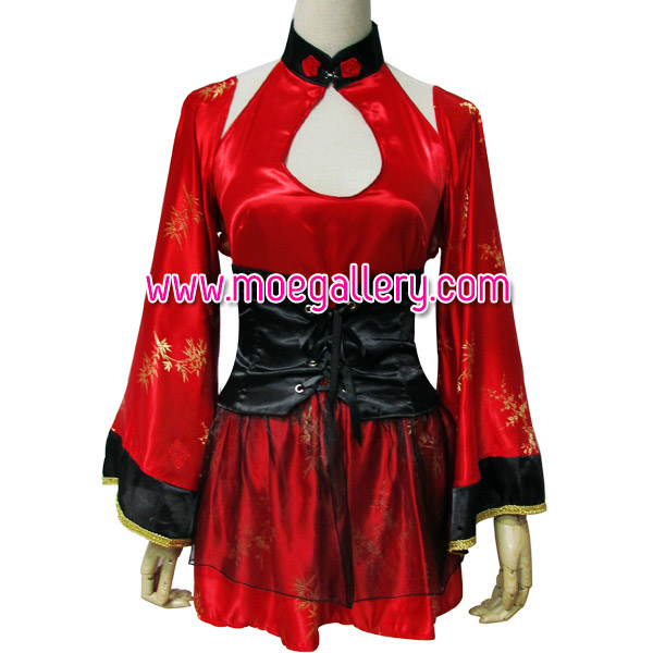 Red Classic Kimono Style Cosplay Costume