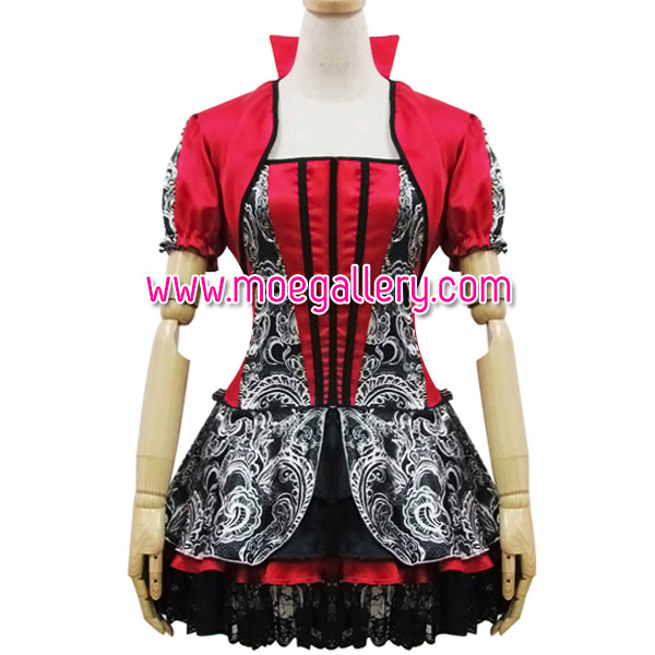 Red Queen Lace Cosplay Costume