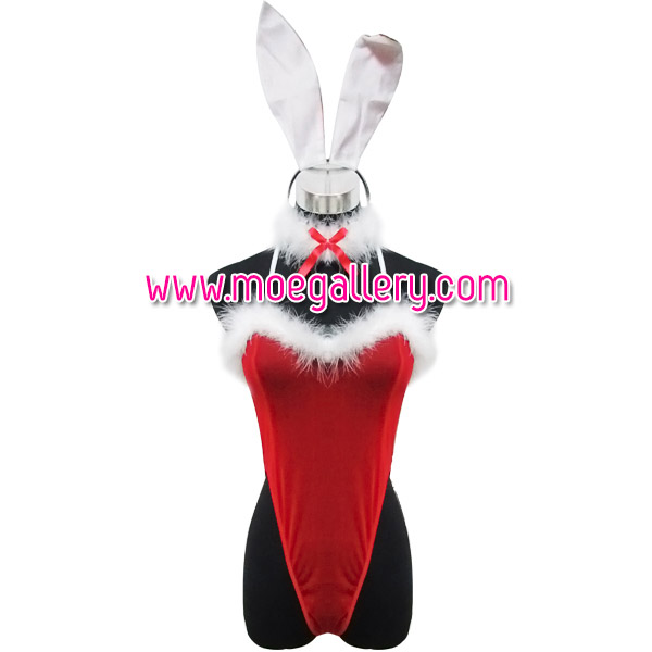 Sexy Red Rabbit Girls Fur Cosplay Costume
