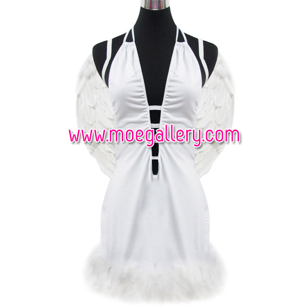 White Angel Stage Costume With Wing