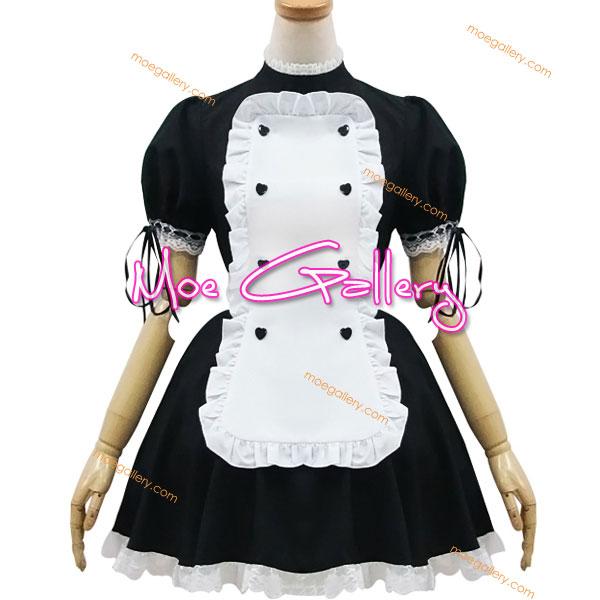 Japanese Black White Maid Cosplay Costume