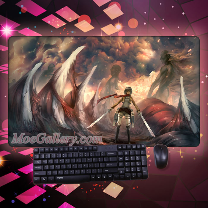 Attack On Titan Mikasa Ackerman Super Mouse Pad 01