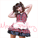 AKB48 Costume Red Check Maid Dress