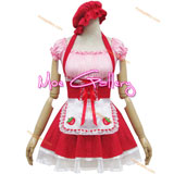 Red Strawberry Maid Cosplay Costume