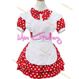 Red Round Spot Maid Dress