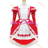 Red Lolita Maid Dress
