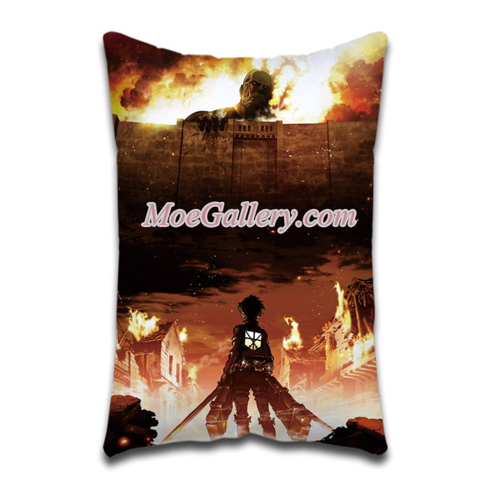 Attack On Titan Eren Yeager Standard Pillow 01
