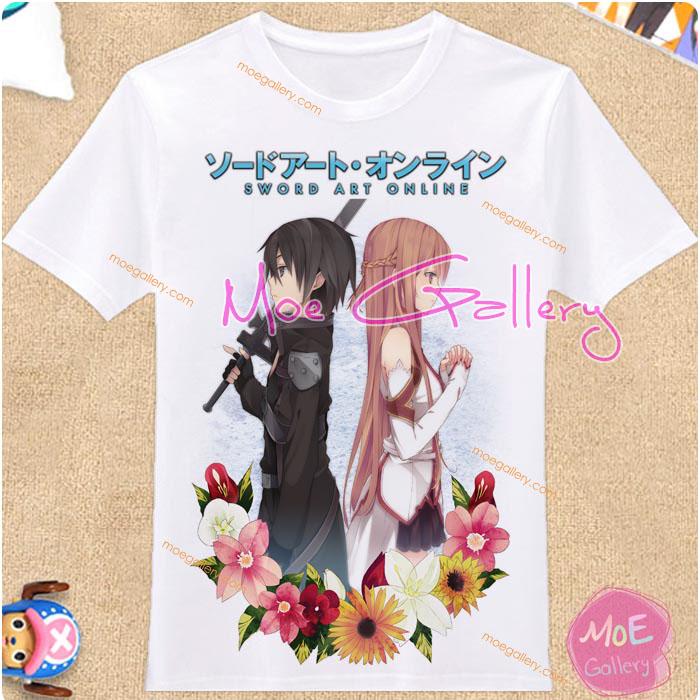 Sword Art Online Kirito Kazuto Kirigaya Asuna Yuuki T-Shirt 02